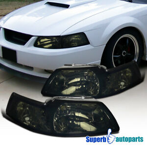 1999 2004 Ford Mustang V6 Gt Headlights corner Lamps Smoke Tint
