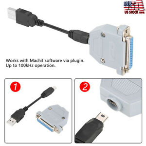 New 10cm Usb To Parallel Adapter Converter Cnc Controller For Mach3 Uc 100