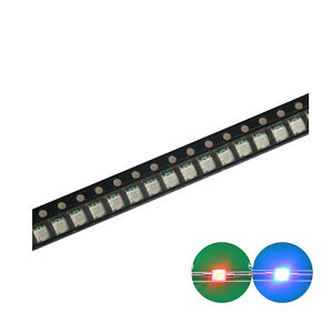 500pcs 1210 3528 Smd Led Diode Lights Bi color Red blue Super Bright Bulb