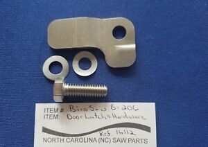 Door Latch With Hardware For Biro Saw Model 44 1433 1433fh 3334 3334fh Ref 16112
