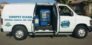 Carpet Cleaning Van With Truck Mount Machine