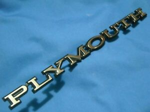 1977 78 79 80 81 Plymouth Trail Duster Pickup Truck Hood Emblem Orig Used
