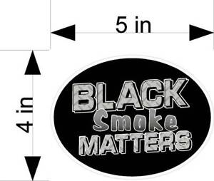 Black Smoke Matters Car Truck Vehicle Decals Stickers