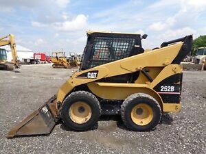 2007 Caterpillar 252b Skid Steer Cab heat air Pilot Controls Hyd Qc 73hp