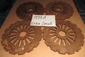 4 International Harvester Cast Iron Planter Plates Sweet Corn Wildlife Food Plot