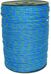1640 Ft Blue green Polywire Electric Fence Livestock Horse Security