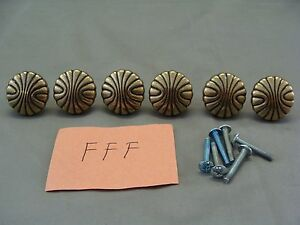 6 Amerock Bp1337 077 Natural Elegance Brass Drawer Cabinet Knobs Fff