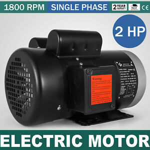 Electric Motor 2 Hp 1 Phase 1800rpm Tefc 5 8 shaft Waterproof 115 230v 60 Hz