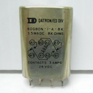 80gb0n 1 a 8k Datron Relay 8 Kilohms 3 Amps 28 Vdc New Old Stock