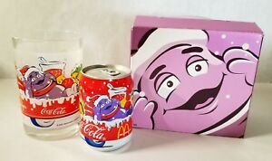 McDonald's 2001 Christmas Grimace Glass and Coca Cola Can in Box