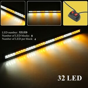 35 32 Led Car Truck Strobe Light Bar Emergency Warning Advisor Amber