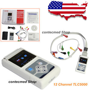 Tlc5000 Ecg Holter System 12 Channel 24 Hours Recorder Analysis System Ce Fda Us