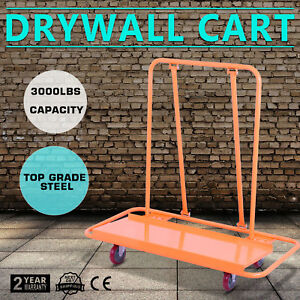Drywall Cart Dolly Handling Sheetrock Panel 3000lbs Metal Trolley Construction