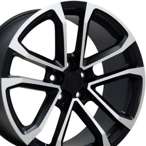 20x8 5 Gm Zl1 Style Rims 5x120 35 Black Machined New Set Of 4 9491665