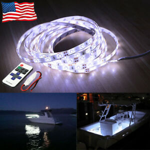 Led Boat Light Deck White Waterproof 12v Bow Trailer Pontoon Lights Kit Marine