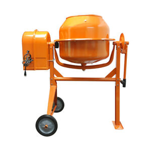 Portable Electric 3 1 2 Cubic Feet Steel Stucco Concrete Cement Mixer Contractor