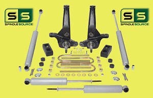 2001 2010 Ford Ranger 2wd 4 2 Lift Kit Spindles Lift Blocks 4 Shocks