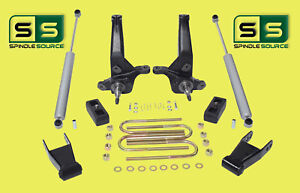 2001 2010 Ford Ranger 2wd 4 3 Lift Kit Spindles Blocks Shackles 2 Shocks
