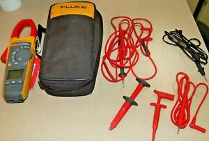 Fluke 374 True Rms Clamp Meter With Cables And Pouch