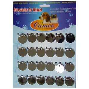 Pendant Dog Tag 24 Pieces Round 25mm id 2012s For Engraving Machine Gravograph