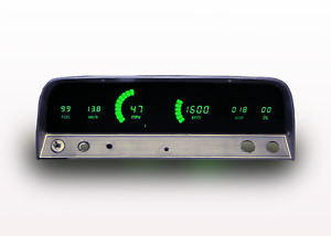 1964 1966 Chevy Truck Digital Dash Panel Green Led Gauges Lifetime Warranty