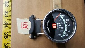Vintage Stewart Warner 10k Electric Tachometer Column Mount 2 3 4 10000