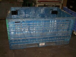 48 x70 x34 Braced Plastic Collaspable Stackable Folding Gaylord Shipping Crates