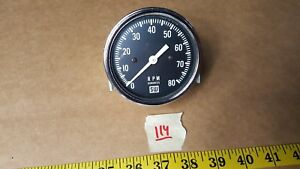Vintage Nos Stewart Warner 8k Mechanical Tachometer Large Logo 3 8000