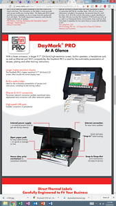 Daymark Pro 9800 Safety Systems Labeling Terminal For Food Handling 9700