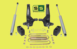 2001 2010 Ford Ranger 2wd 4 4 Lift Kit Spindles lift Blocks 2 Rear Shocks