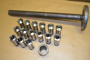Drawbar Set Of Standard Collets 1 8 To 1 W Collet Choke For Clausing Lathe