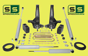 2001 2010 Ford Ranger 2wd 5 4 Lift Kit Spindles front Spacers 4 Shocks blocks
