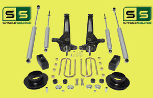 2001 2010 Ford Ranger 2wd 6 3 Lift Kit Spindles front Spacers blocks 4 Shocks