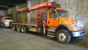 Int l Custom Tree Service Package Crane Truck With Dump Bed And Grapple Saw