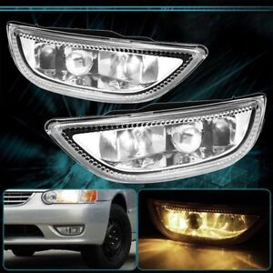 Pair Clear Front Bumper Driving Fog Light For 2001 02 Toyota Corolla