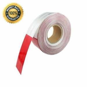 Reflective Dot Tape Roll Red White Trailer Caution Safety Warning Visible Film