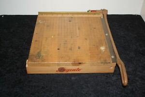Vintage Ingento No 4 Paper Cutter 12 X 12 Wood Construction Great For Crafts