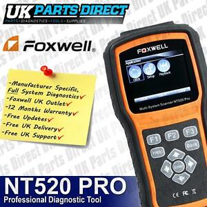 Renault Diagnostic Scan Reset Tool Full System Foxwell Uk Nt520 2019 Model