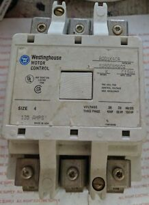 Westinghouse Motor Control Contactor 120v Coil 135 Amp Size 4 A201k4ca