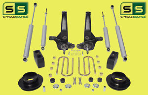 2001 2010 Ford Ranger 2wd 6 4 Lift Kit Spindles Fr Spacers Blocks 4 Shocks