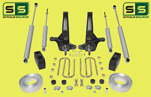 2001 2010 Ford Ranger 2wd 7 4 Lift Kit Spindles Blocks Fr Spacers 4 Shocks