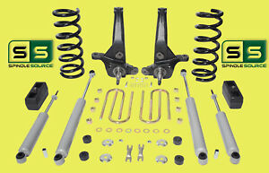 01 10 Ford Ranger 2wd 6 3 Lift Kit 4 Cyl Spindles coils lift Blocks 4 Shocks