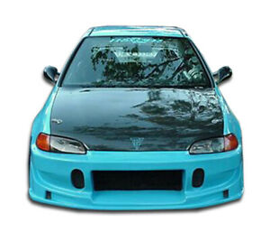 Duraflex Buddy Front Bumper Cover overstock For 1992 1995 Honda Civic