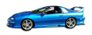 Couture Urethane Vortex Side Skirts Rockers 2pc For 1993 2002 Camaro