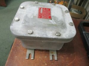 O z Gedney Explosion Proof Outlet Box Ye060604 Size 6x6x4 Used