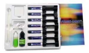 Prime dent Light Cure Hybrid Dental Resin Composite 7 Syringe Kit Fda