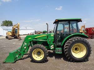 2006 John Deere 5525 Tractor Cab heat air 4wd Loader Power Reverser 1440hrs