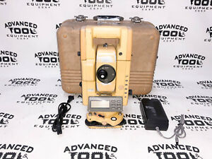 Topcon Gts 304 Total Station Transit W Case New Charger Battery