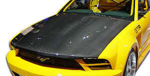 2005 2009 Ford Mustang Carbon Creations Oem Hood 1 Piece Body Kit