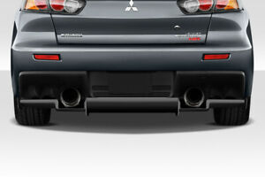 Duraflex Vr S Rear Diffuser For 2008 2015 Lancer Evolution 10